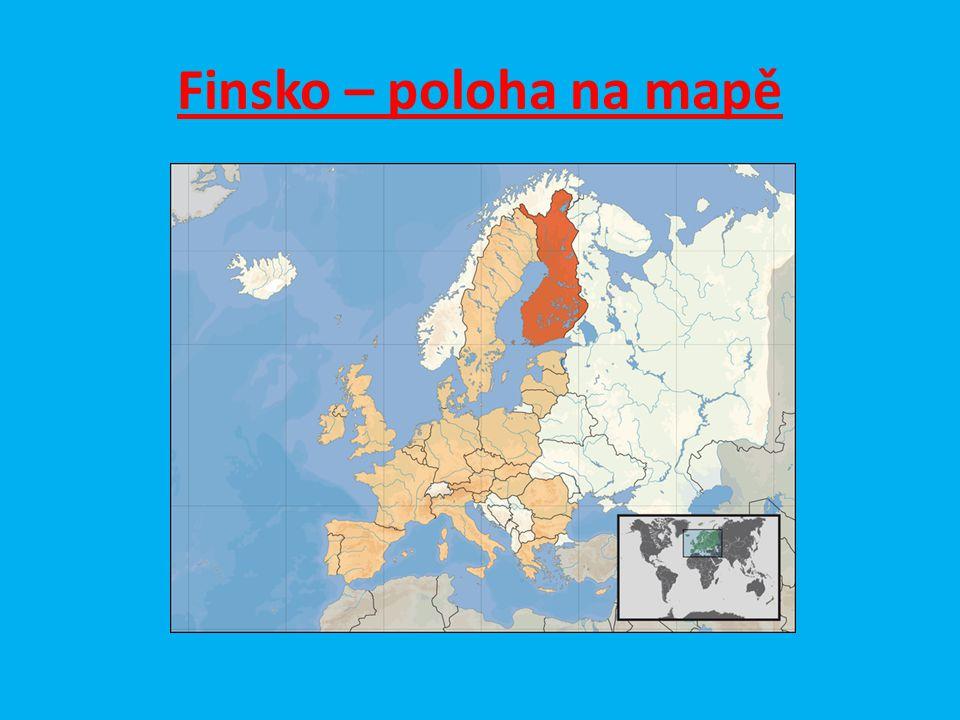 Finsko – poloha na mapě