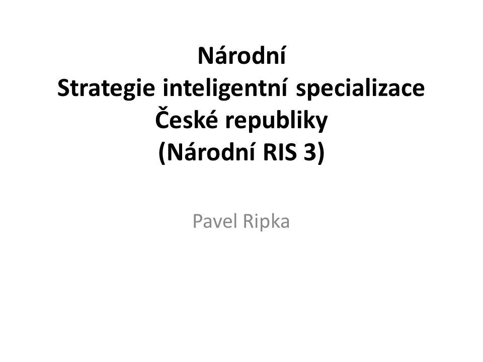 Národní Strategie inteligentní specializace České republiky (Národní RIS 3) Pavel Ripka