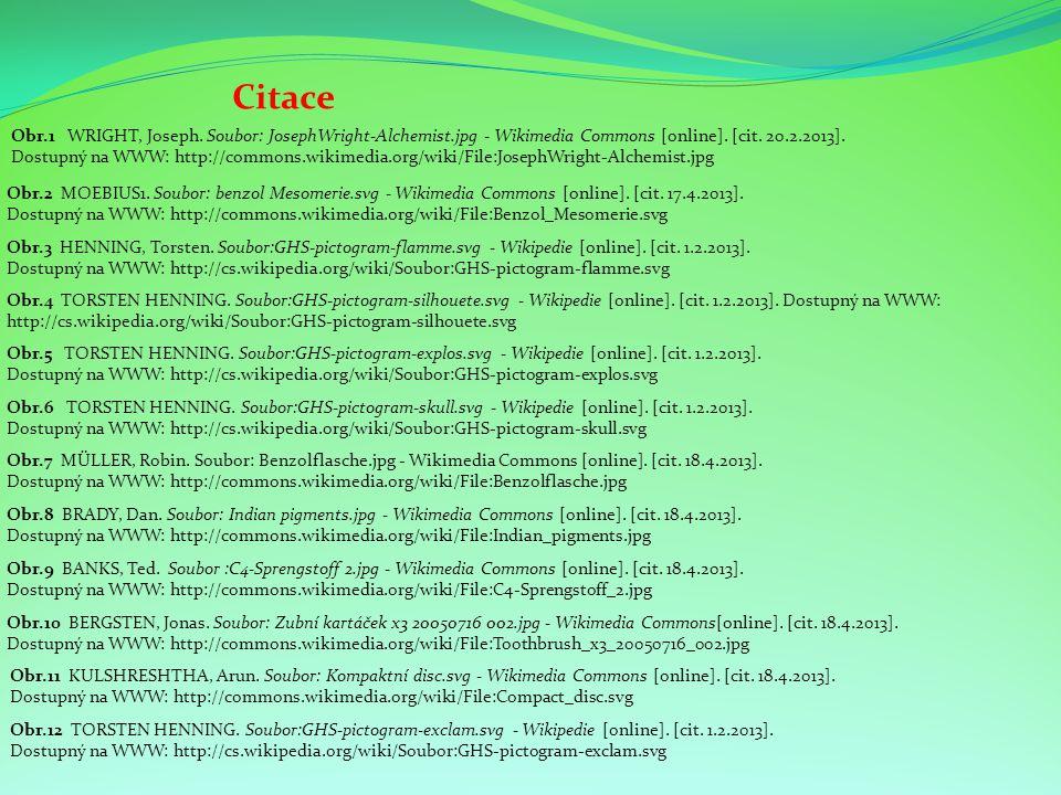 Citace Obr.3 HENNING, Torsten. Soubor:GHS-pictogram-flamme.svg - Wikipedie [online]. [cit. 1.2.2013]. Dostupný na WWW: http://cs.wikipedia.org/wiki/So