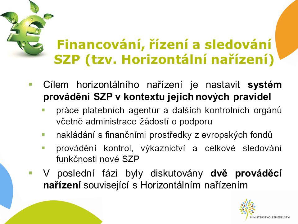 Financování, řízení a sledování SZP (tzv.