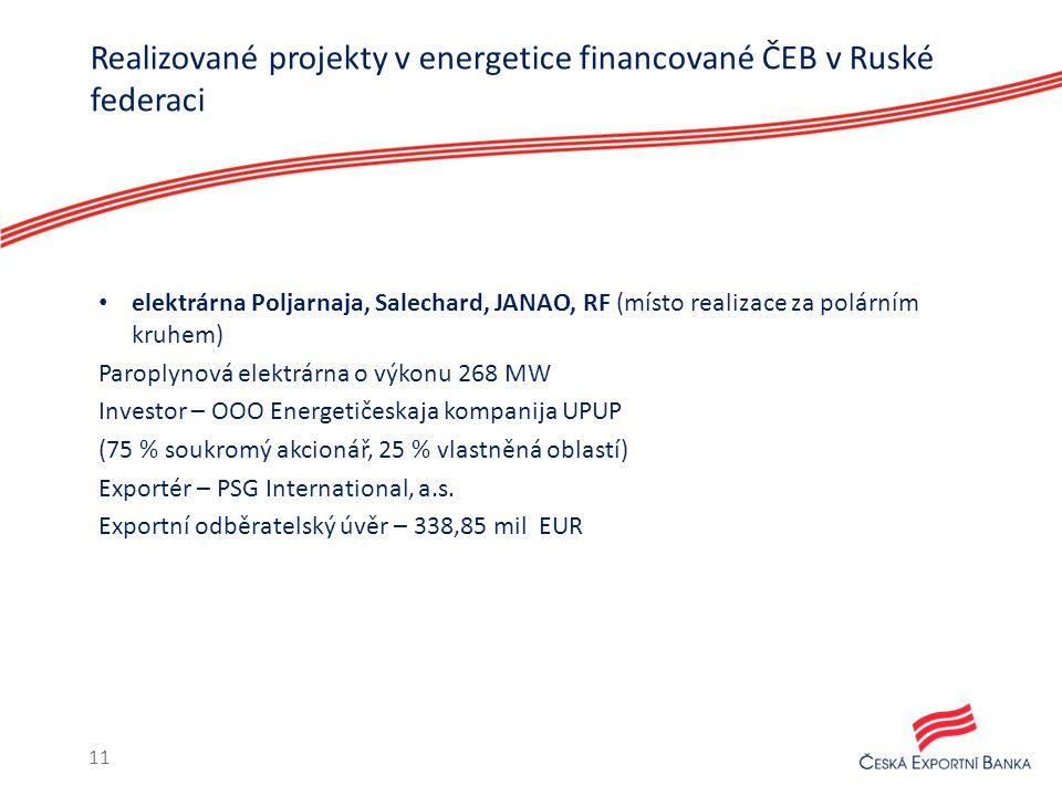 elektrárna Poljarnaja, Salechard, JANAO, RF (místo realizace za polárním kruhem) Paroplynová elektrárna o výkonu 268 MW Investor – OOO Energetičeskaja