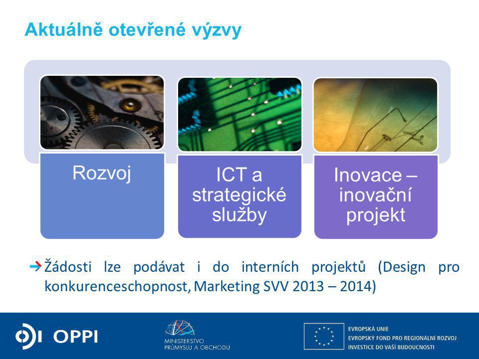doc. Ing. Jiří Cienciala, CSc. ministr průmyslu a obchodu Aktuálně otevřené výzvy Žádosti lze podávat i do interních projektů (Design pro konkurencesc