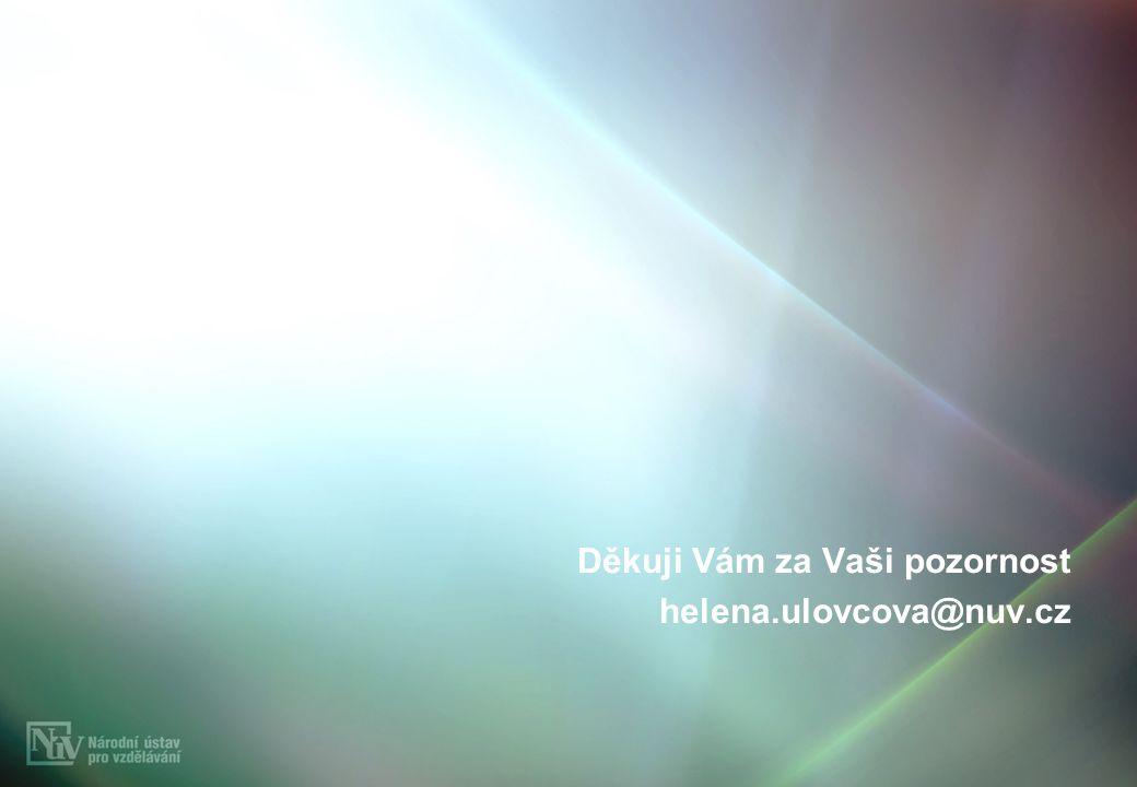Děkuji Vám za Vaši pozornost helena.ulovcova@nuv.cz