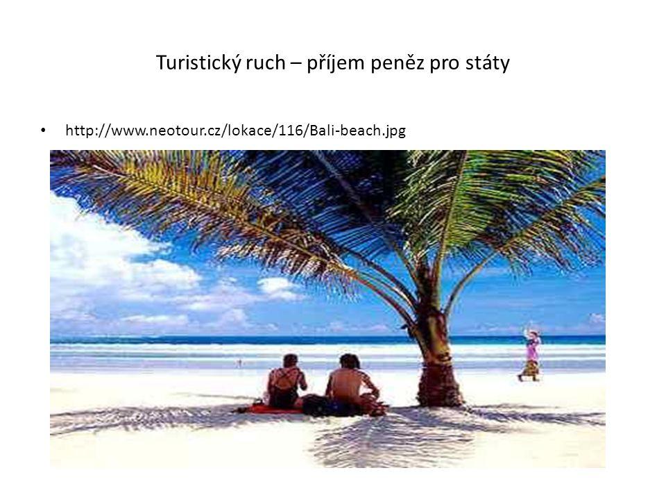 Turistický ruch – příjem peněz pro státy http://www.neotour.cz/lokace/116/Bali-beach.jpg