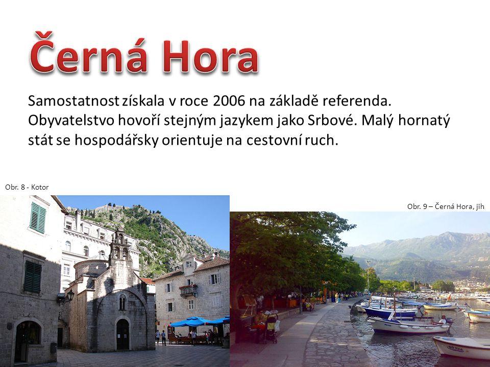 Samostatnost získala v roce 2006 na základě referenda. Obyvatelstvo hovoří stejným jazykem jako Srbové. Malý hornatý stát se hospodářsky orientuje na