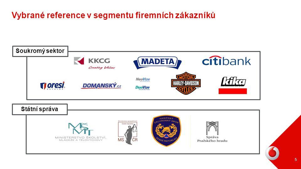 Státní správa Soukromý sektor 5 Vybrané reference v segmentu firemních zákazníků
