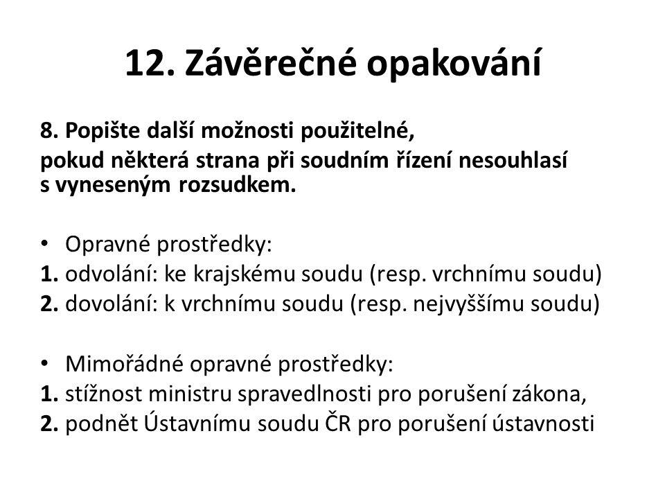 12. Závěrečné opakování 8.