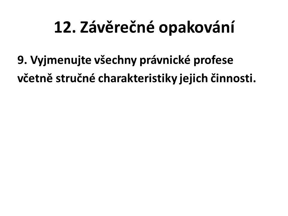 12. Závěrečné opakování 9.