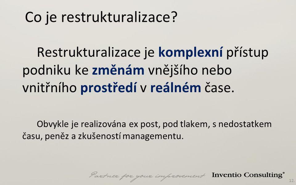 12. Co je restrukturalizace.