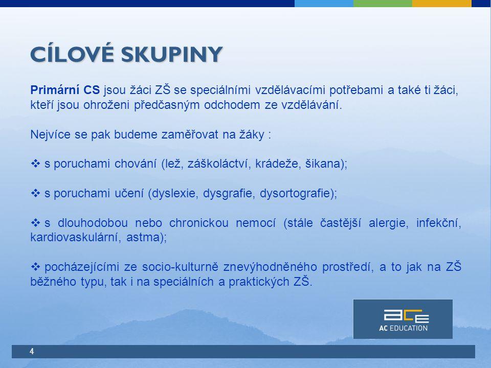 5 CÍLOVÉ SKUPINY Žáci 2.