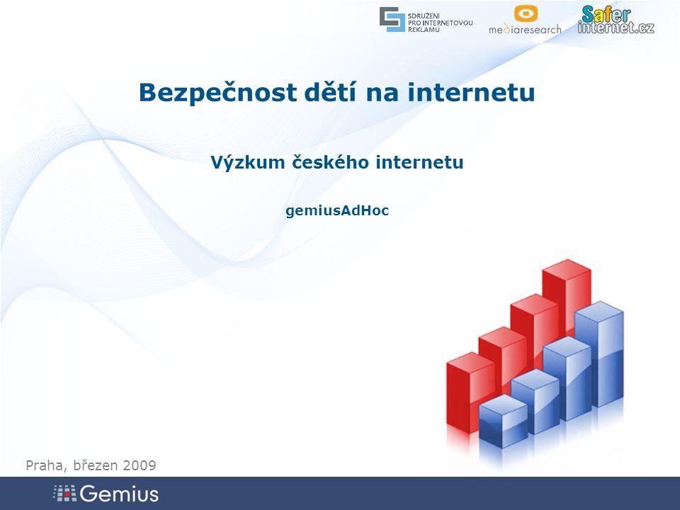 4242 4242 42 Zdroj: gemiusAdHoc, leden 2009 Mluvil/a jste s dítětem o bezpečném používání Internetu.