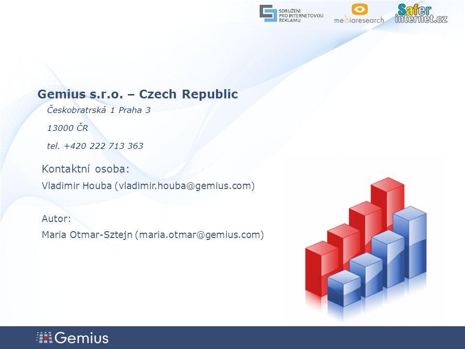 4646 4646 46 Gemius s.r.o. – Czech Republic Českobratrská 1 Praha 3 13000 ČR tel.
