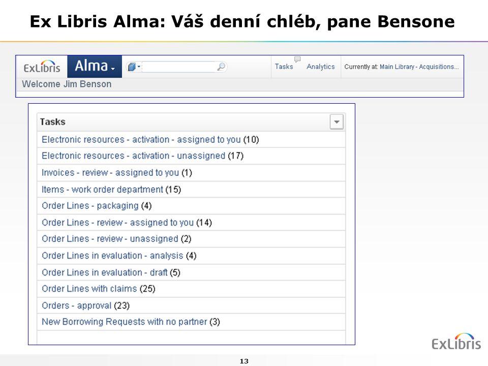 13 Ex Libris Alma: Váš denní chléb, pane Bensone