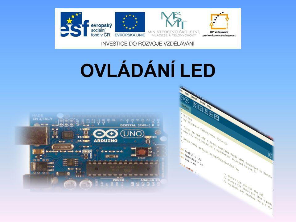 Připojení LED k Arduinu a ovládání