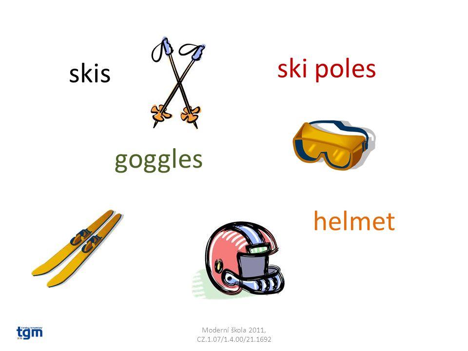 Moderní škola 2011, CZ.1.07/1.4.00/21.1692 ski poles goggles skis helmet