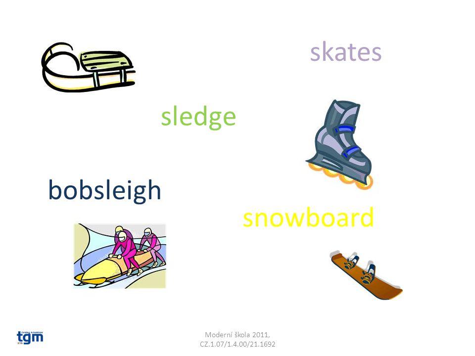 Moderní škola 2011, CZ.1.07/1.4.00/21.1692 skates sledge snowboard bobsleigh