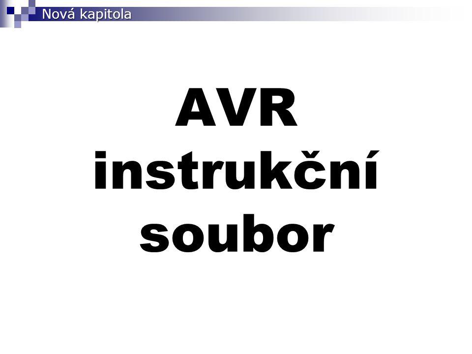 AVR instrukční soubor Nová kapitola