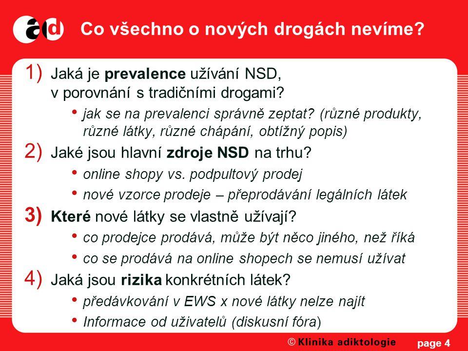 Co všechno o nových drogách nevíme? 1) Jaká je prevalence užívání NSD, v porovnání s tradičními drogami? jak se na prevalenci správně zeptat? (různé p