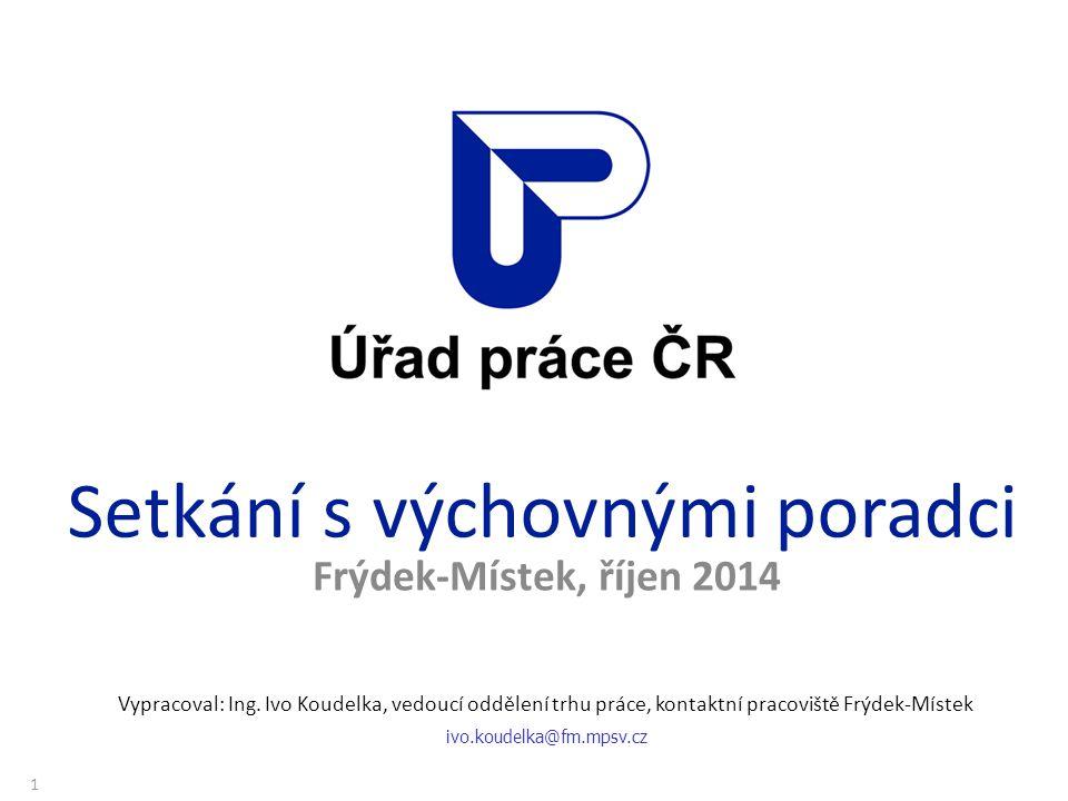 Setkání s výchovnými poradci Frýdek-Místek, říjen 2014 Vypracoval: Ing.