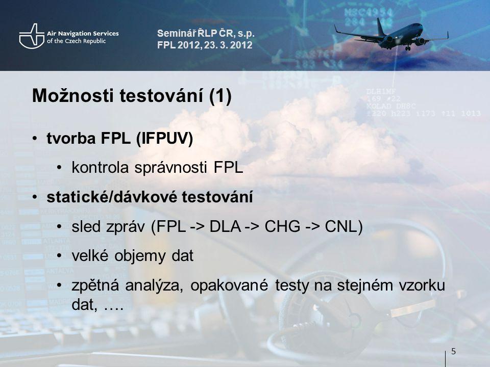 Seminář ŘLP ČR, s.p.FPL 2012, 23. 3.