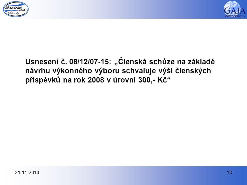 21.11.201410 Usnesení č.