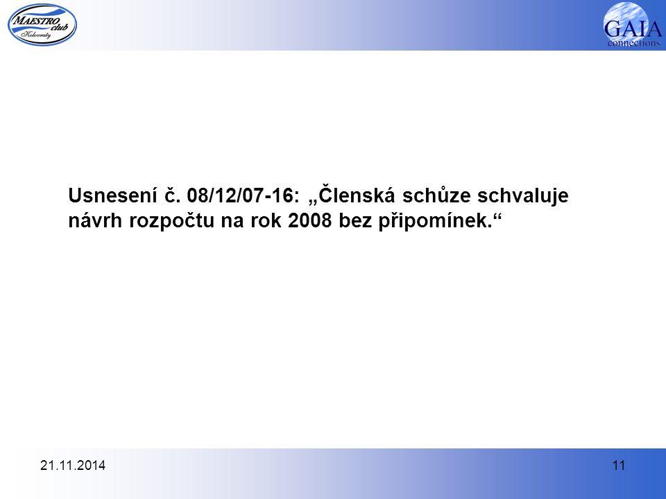 21.11.201411 Usnesení č.