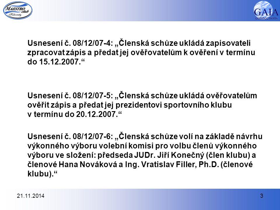 21.11.20144 Usnesení č.