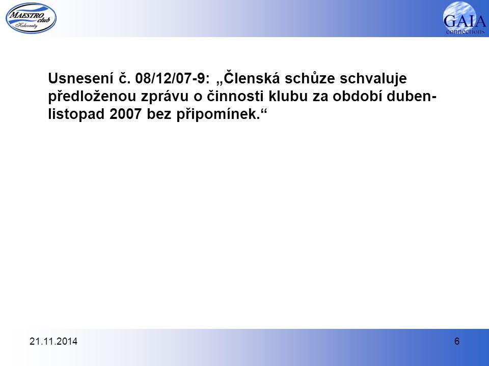 21.11.20146 Usnesení č.