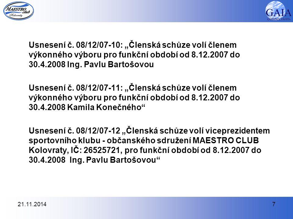 21.11.20147 Usnesení č.