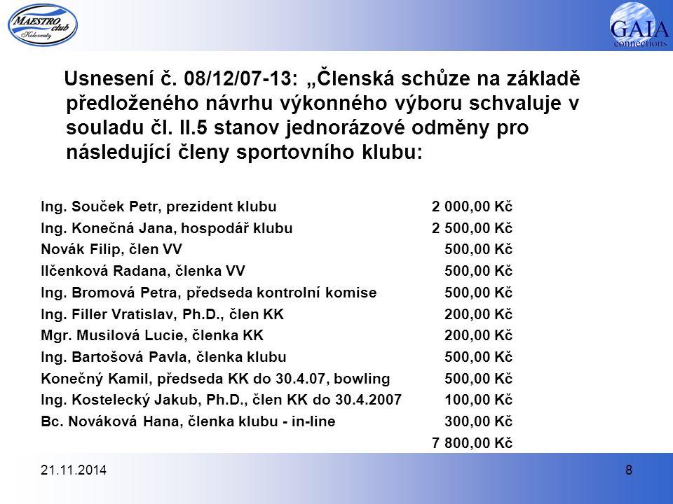 21.11.20148 Usnesení č.