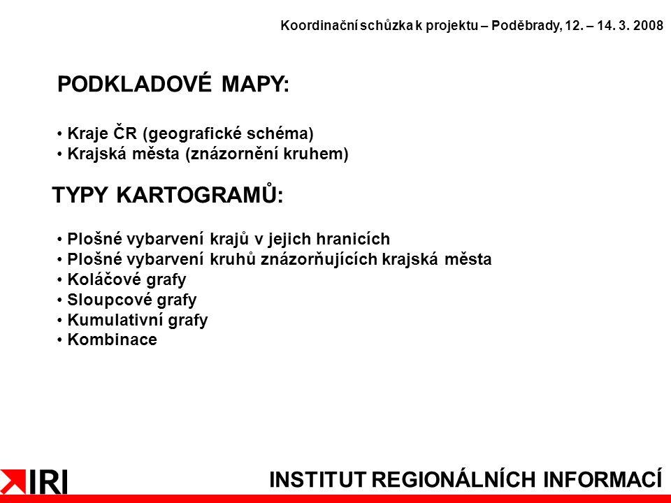 INSTITUT REGIONÁLNÍCH INFORMACÍ PODKLADOVÉ MAPY: Koordinační schůzka k projektu – Poděbrady, 12.