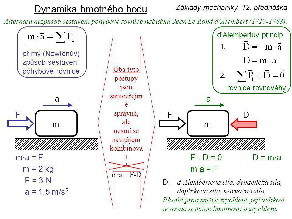Alternativní způsob sestavení pohybové rovnice nabídnul Jean Le Rond d'Alembert (1717-1783).