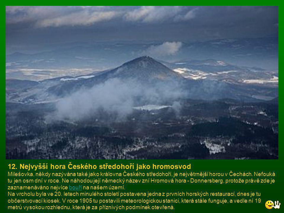 11. Tajemná propast a systém jeskyní Největší a nejvýznamnější krasovou oblastí v Česku je Moravský kras, kam míří lidé především do zpřístupněných je