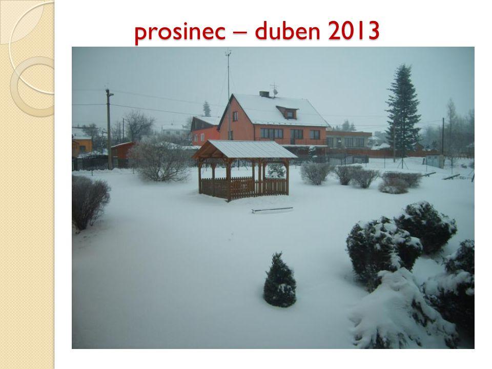 prosinec – duben 2013 prosinec – duben 2013
