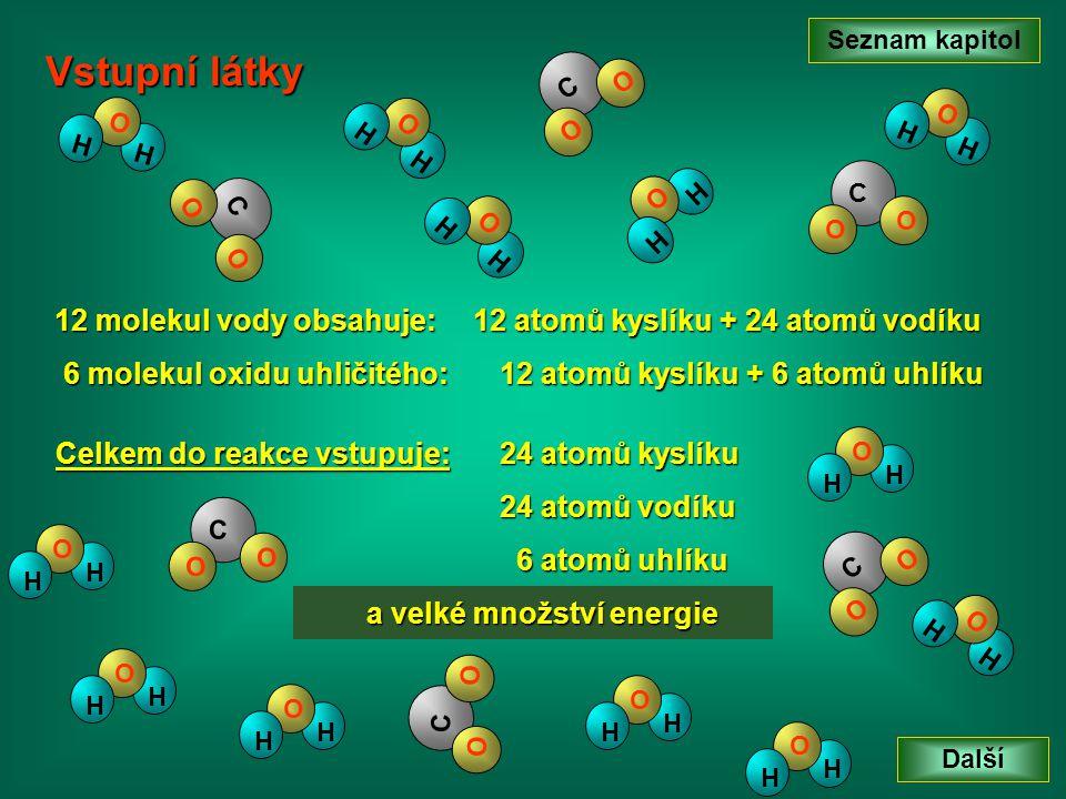 Seznam kapitol Další H O H C O O H O H H O H H O H H O H C O O C O O C O O C O O C O O H O H H O H H O H H O H H O H H O H H O H 12 molekul vody obsah