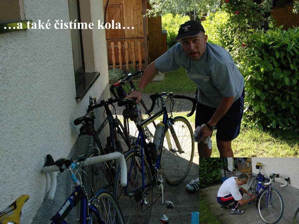 …a také čistíme kola…