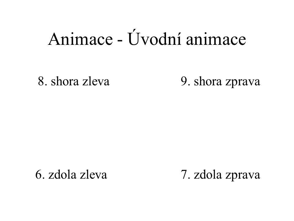 Animace - Uvést text 1. celý najednou 2. po slovech 3. po písmenech