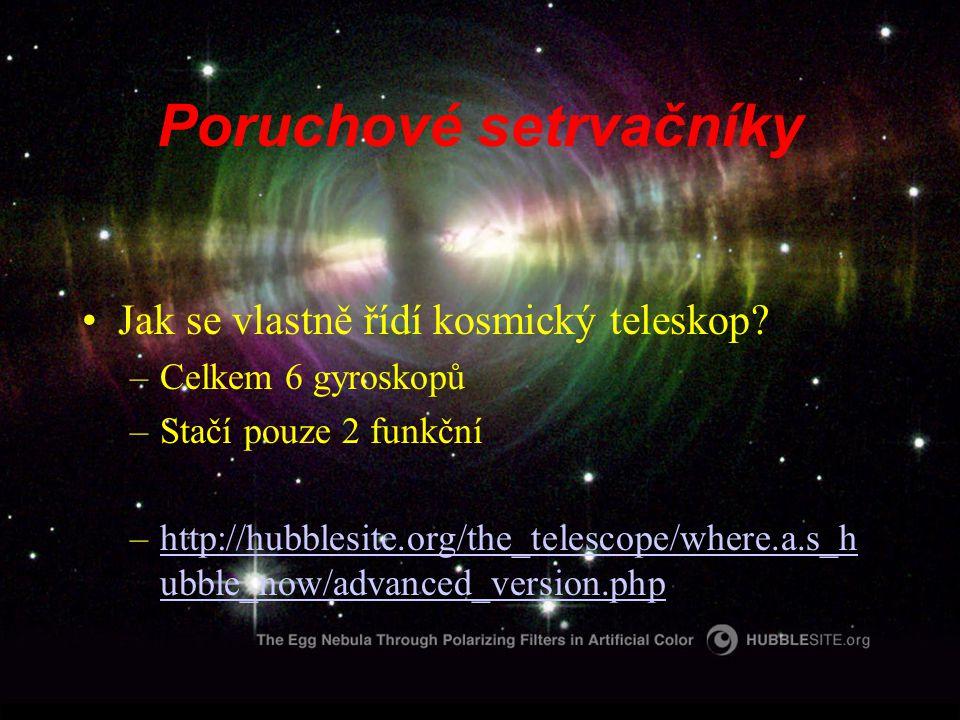 Poruchové setrvačníky Jak se vlastně řídí kosmický teleskop.