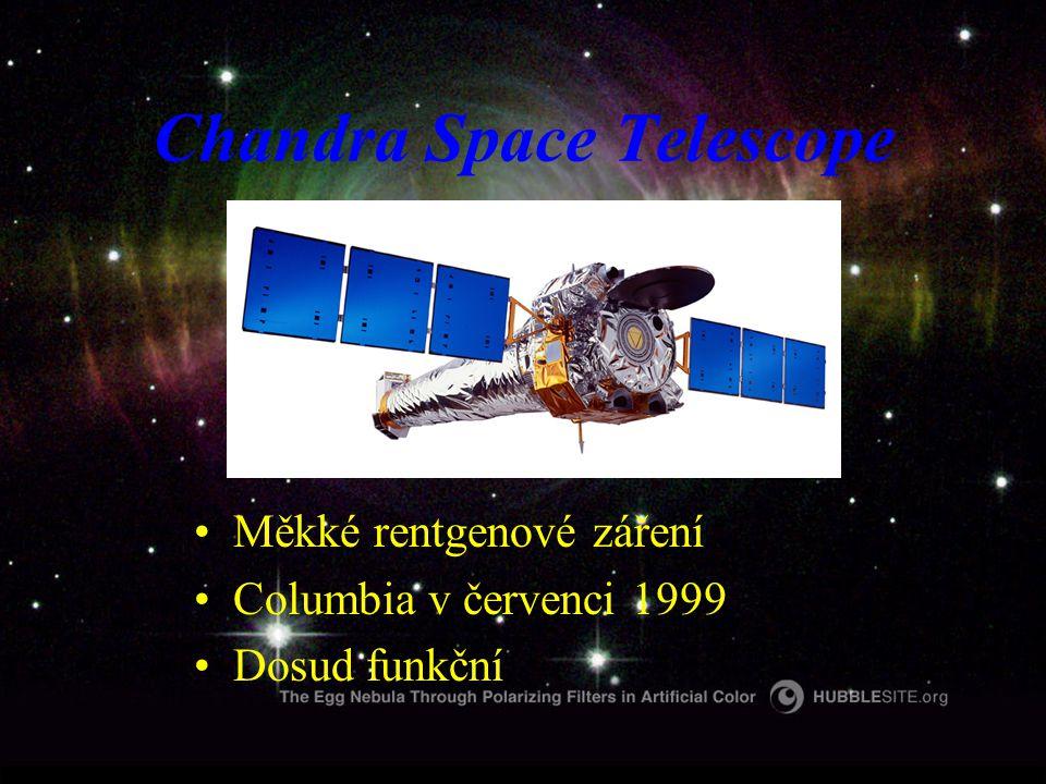Chandra Space Telescope Měkké rentgenové záření Columbia v červenci 1999 Dosud funkční