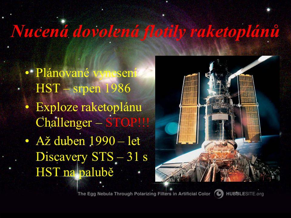 Nucená dovolená flotily raketoplánů Plánované vynesení HST – srpen 1986 Exploze raketoplánu Challenger – STOP!!.