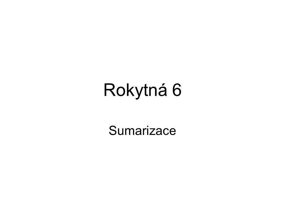Rokytná 6 Sumarizace