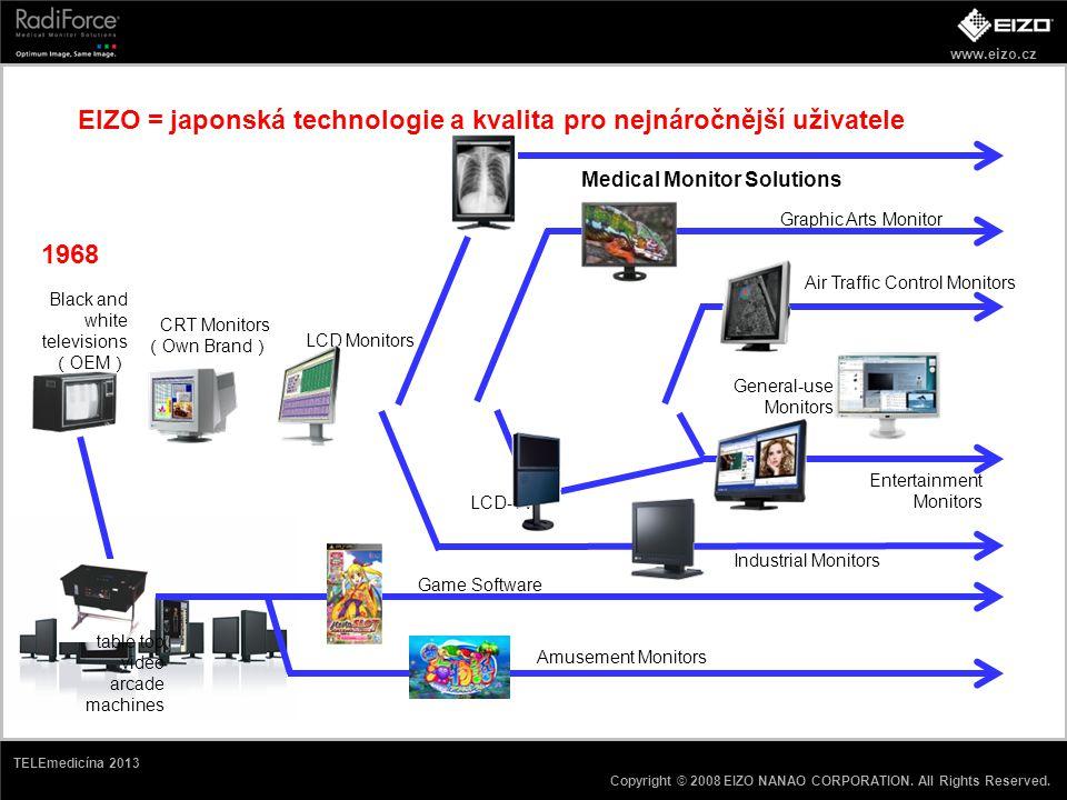 www.eizo.cz Copyright © 2008 EIZO NANAO CORPORATION. All Rights Reserved. TELEmedicína 2013 EIZO = japonská technologie a kvalita pro nejnáročnější už