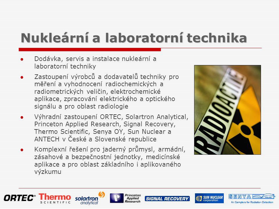 Nukleární a laboratorní technika ● Dodávka, servis a instalace nukleární a laboratorní techniky ● Zastoupení výrobců a dodavatelů techniky pro měření