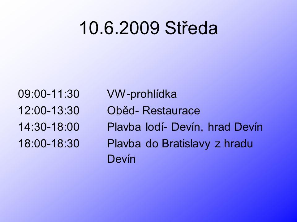 WV, Oběd- Restaurace