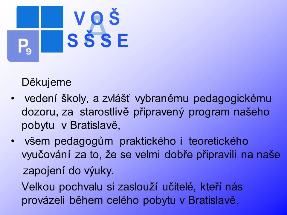 Těšíme se na další spolupráci s Vaší školou.Ing.