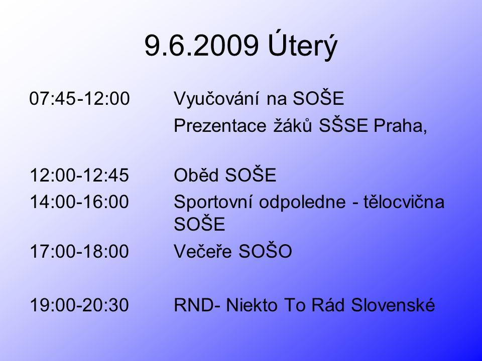 Prezentácia žiakov SŠSE Praha