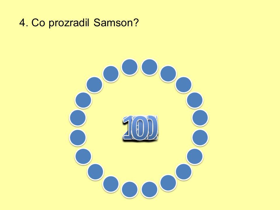 3. Do koho se zamiloval Samson