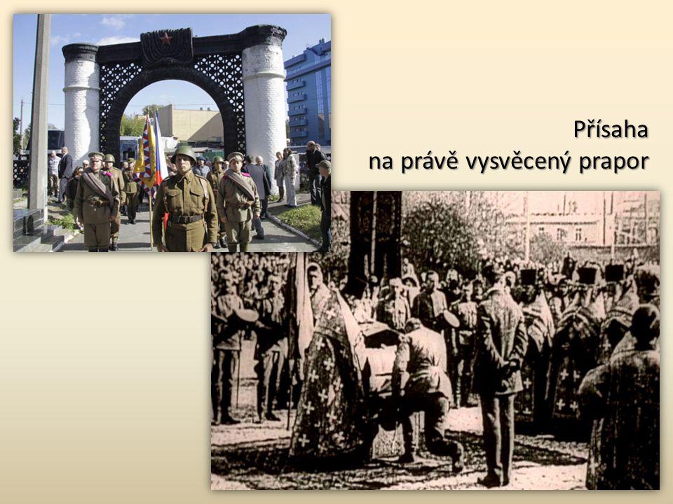 Svěcení praporu České družiny…