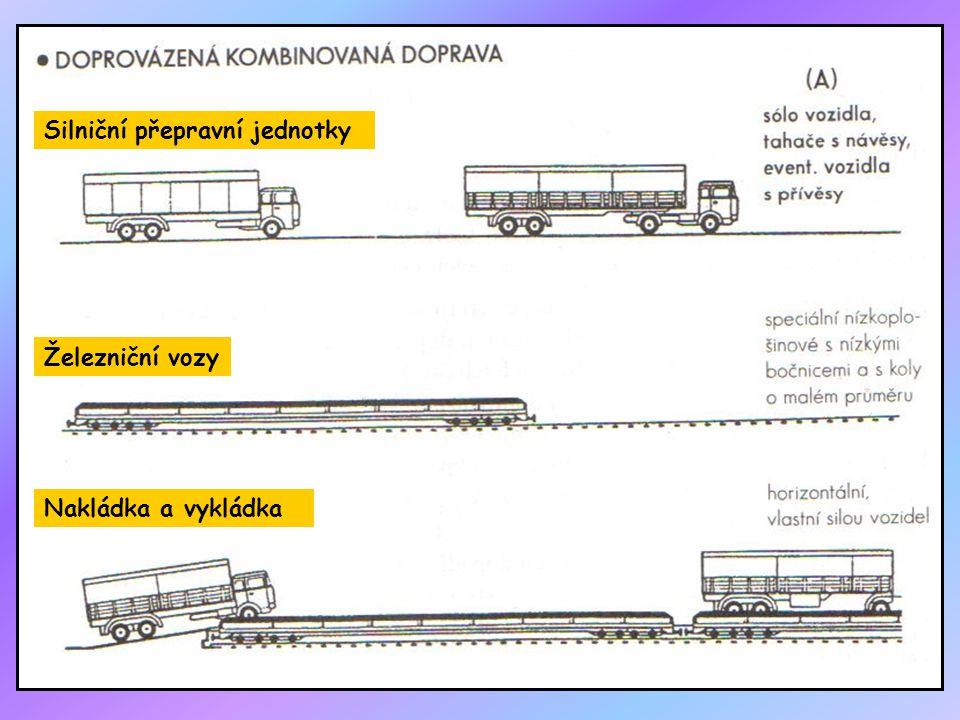 Silniční přepravní jednotky Železniční vozy Nakládka a vykládka