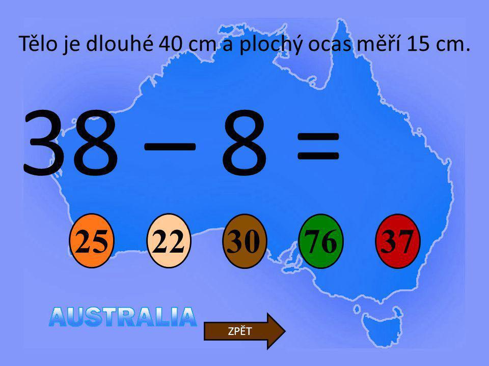80 – 5 = 95 82 50 93 75 ZPĚT Váží kolem 2 kg.